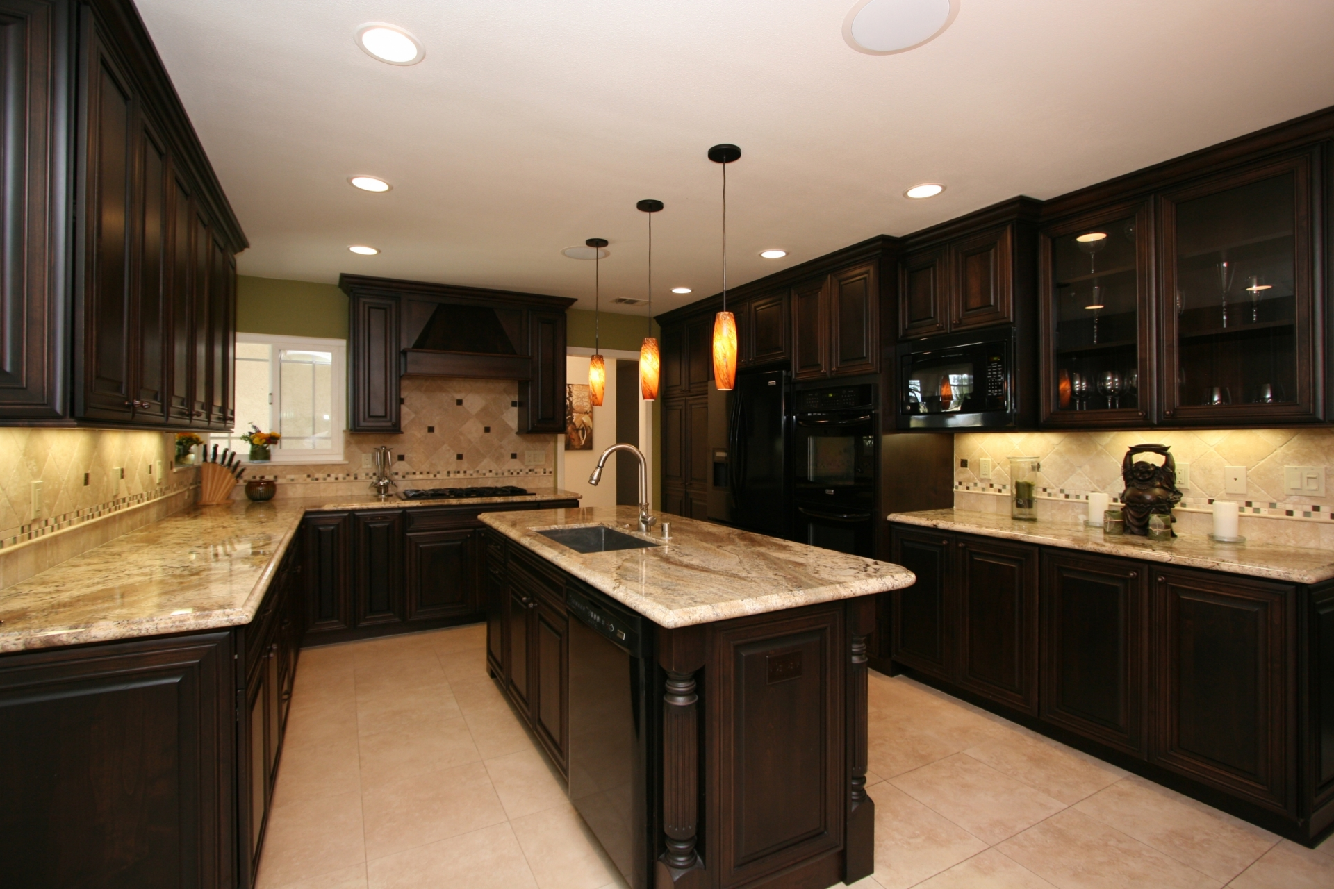 Kitchen Remodel Dark Cabinets kitchen remodeling contractor: cabinets, counters, flooring