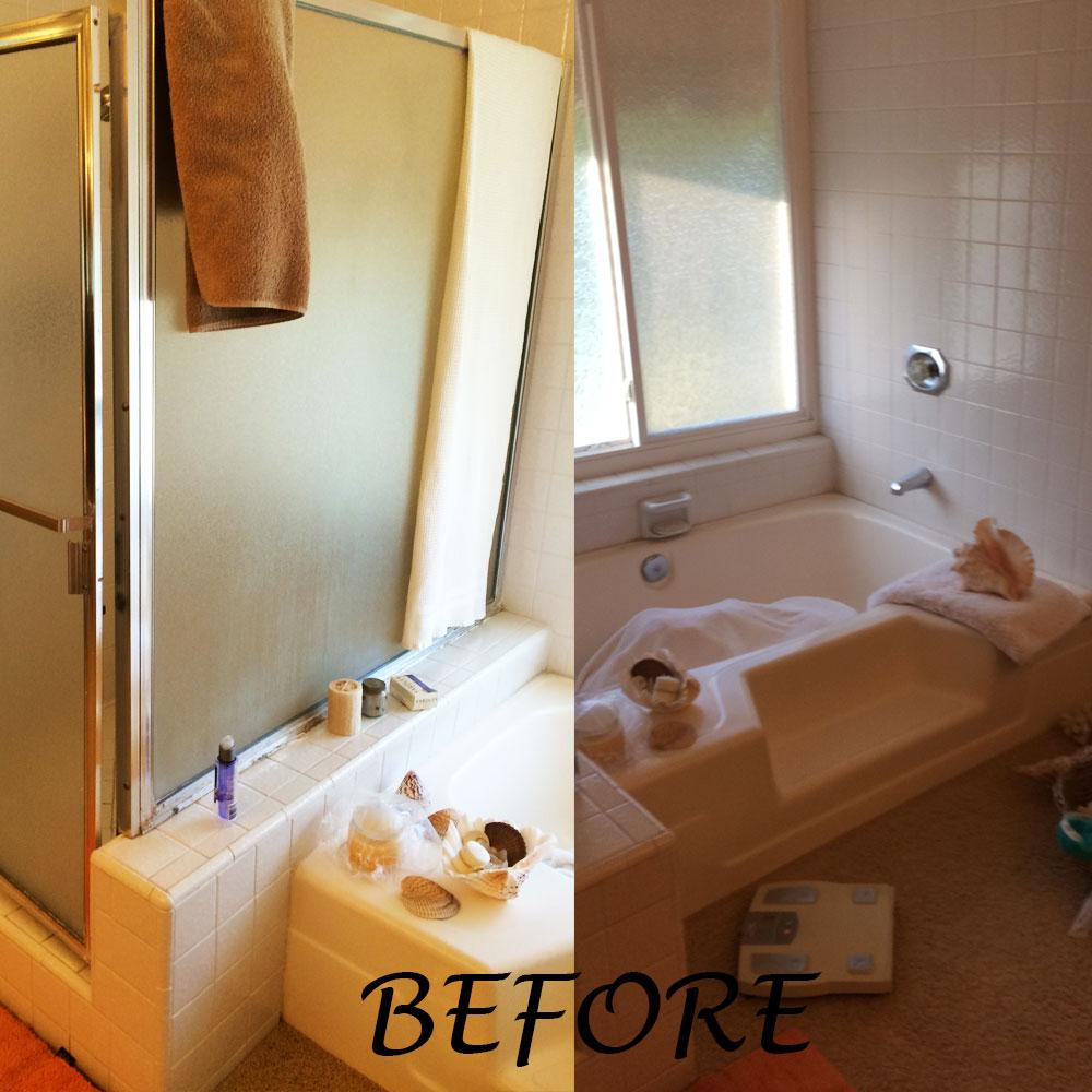Bathroomremodelmissionviejobefore Cidar Construction Home - Mission viejo bathroom remodeling