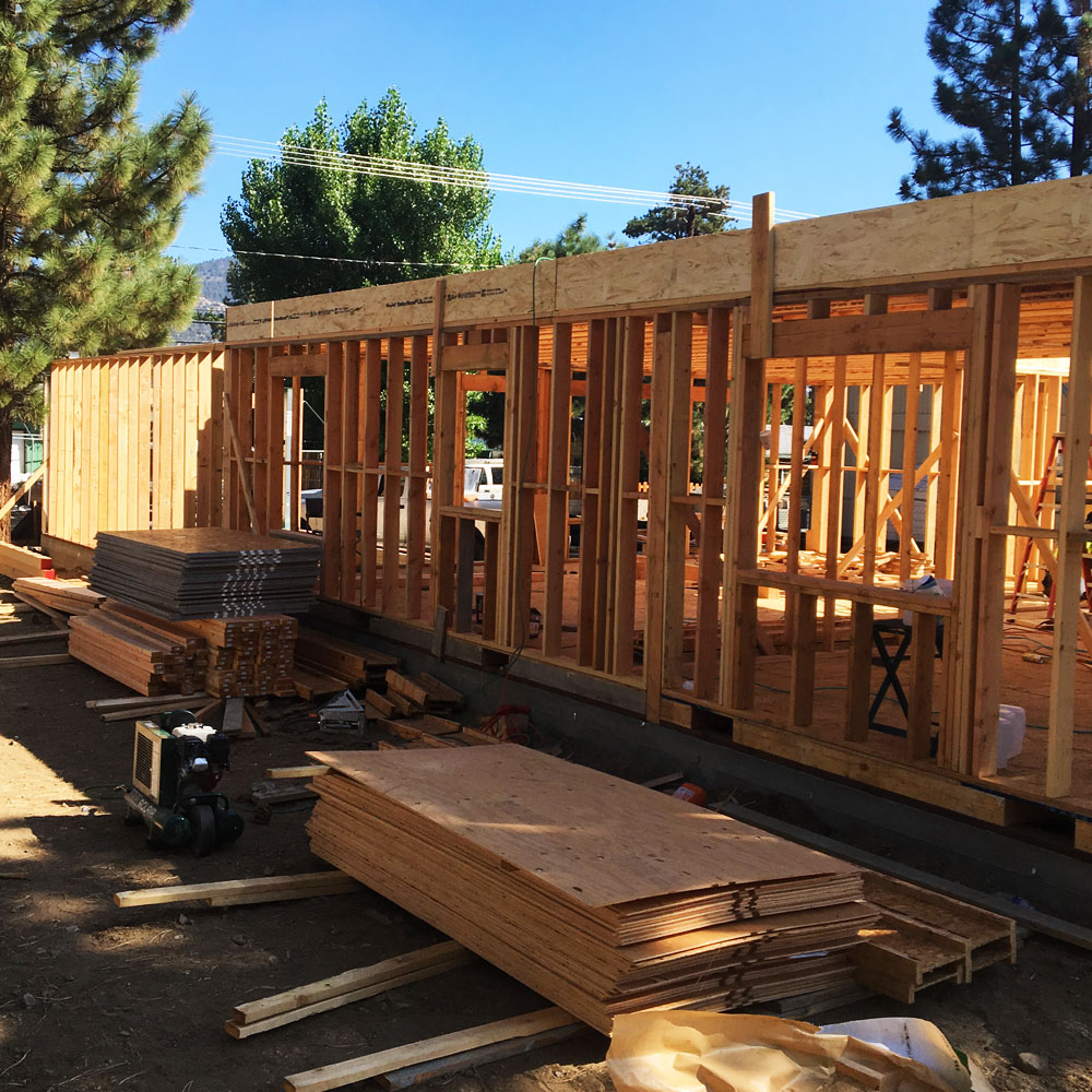 New-home-construction-framing-foundation